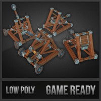catapult kit medieval 3d model