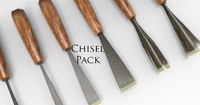 wood chisel 3d model