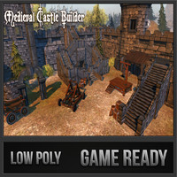 3d model medieval castle builder games
