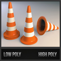 traffic cone 3d max