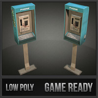phonebooth 01 3d model