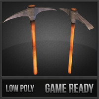 pickaxe weapons polys 3d model