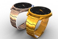 3d model alba watch gold silver