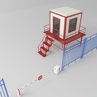 security checkpoints 3d model