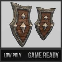 shield 02 medieval fantasy 3d dxf
