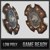 3ds max shield 03 medieval fantasy