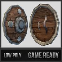 shield 04 medieval fantasy 3d dwg