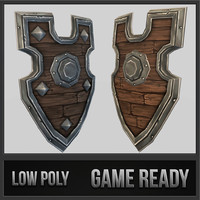 3d shield 06 medieval fantasy model