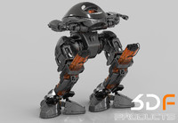 3d model robot droid