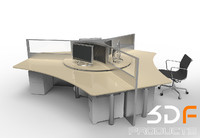 office desk 3d 3ds