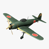 3d model of japanese kawanishi george n1k