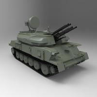 shilka zsu-23-4 3d obj