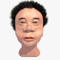 3d model african mixed race male