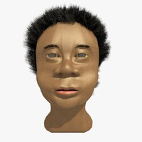 3d 3ds african male head winston