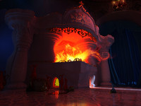 fireplace furnace 3d max