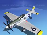 cockpit p-51-d 3d model