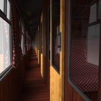 3d slam train carriage interior