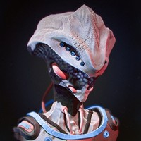 3d model of alien zbrush sculpture