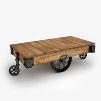 factory cart furniture 3d model