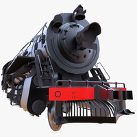 steam train 3d fbx