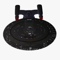 uss enterprise d star trek 3d model