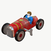 metal toy car 3d model
