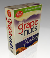 grape nuts cereal box 3ds