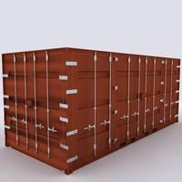 3d model container 6 door