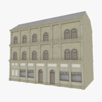 european building 3d fbx