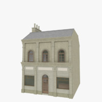 3d model european building interior store