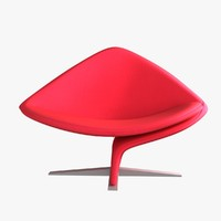 chair steel asymmetric 3d max