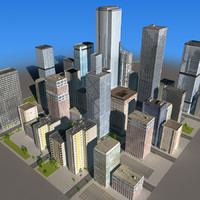 3d model of city building blocks 03