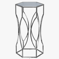 modern chrome table glass 3d 3ds