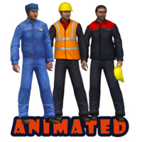 workers rig animation 3d max