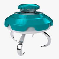 c4d ufo flying saucer