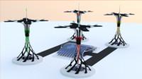 futuristic space port 3d model