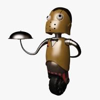 robot waiter 3d model