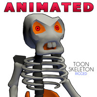 toon skeleton rigged cartoon 3d dxf