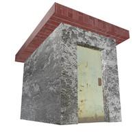 3ds max roof stairway door