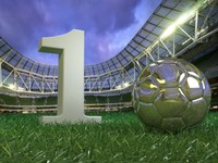 realistic grass football editable 3d max