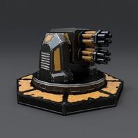 maya scifi turret
