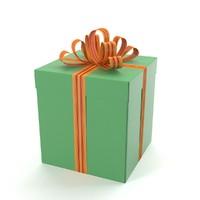 3d model green gift box