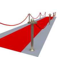 stanchions velvet rope red carpet 3d max