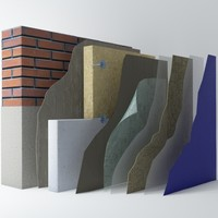 3d layers wall model