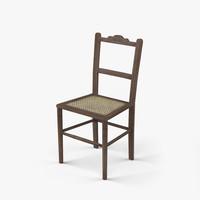 3dsmax oak chair 18th century