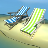 beach chair 3d max