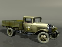 3d model of gaz-aa lorry gorky