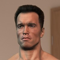3d arnold hair fur male man model