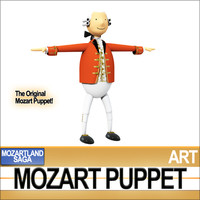 3d model of mozart puppet man
