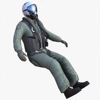 Lowpoly Jet Pilot